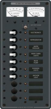 DC 10 pozisyonlu sigorta paneli (3 pozisyon boş)