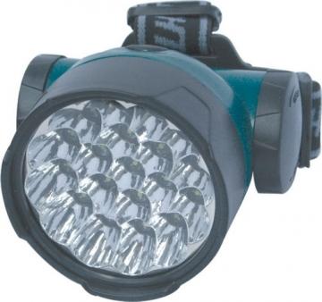 Baş feneri. 19 led ile güçlü aydınlatma sağlar.