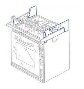 Smev ocaklı fırınlar için ısı koruyucu plaka.