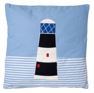 Yastık, kare, deniz feneri desenli