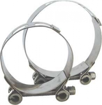 AISI 316 paslanmaz çelik kelepçe. Ağır hizmet tipi.