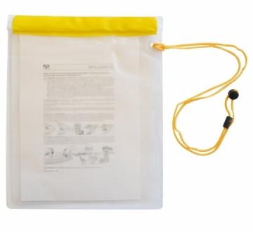 Su geçirmez evrak çantası. PVC. 25x35 cm.