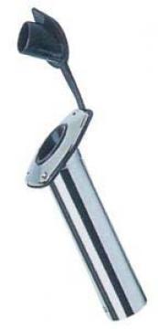 Kamış yuvası, paslanmaz çelik. Kauçuk koruyucu kapaklı. Ø 42 mm.