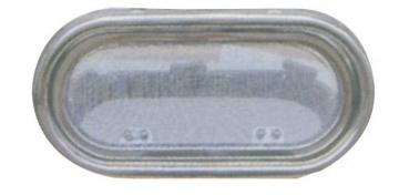 Krom Lumboz Oval 15 x 30 cm Montaj Ölçüsü: 10.5 x 25.5 cm Sineklik Dahil