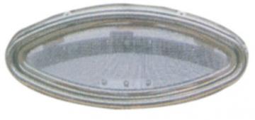 Krom Lumboz Elips 20 x 46 cm Montaj Ölçüsü: 15.5 x 41.5 cm Sineklik Dahil