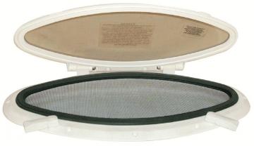 Elips Lumboz Plastik 20 x 47 cm Montaj Ölçüsü: 150 mm x 400 mm Krom Çerçeveli - Sineklik Dahil