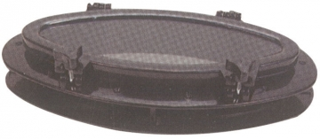Plastik Lumboz Oval Siyah 20 x 40 cm