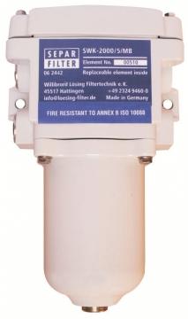 Separ Filitre ve Yedek Filtre Elemanı SWK - 2000 / 5 / MB Max.400 Hp