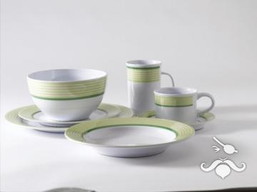 Trendline yeşil, 20 parça melamin yemek takımı