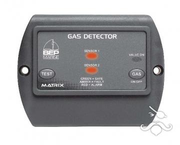 BEP Marine CONTOUR Serisi Gaz Dedektörü 12V- 2.Sensör Takılır/ Alarmlı/ Solen.Kumanda