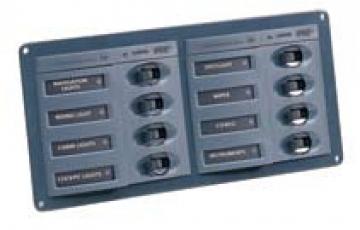 Hella Marine Sigorta paneli, 8´li. Airpax otomatik sigortalı.
