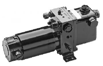Vetus elektro hidrolik pompa. Sağ ve sol dönüşe müsait motor, geri dönüşü engelleyen valf ve by-pass valfine sahiptir.