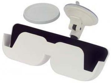 Gözlük yuvası, vantuzlu. Beyaz plastik, 165x57x130mm.