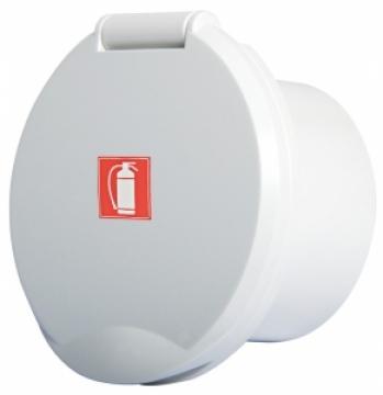 Beyaz ABS pakalı kapaklı kutu