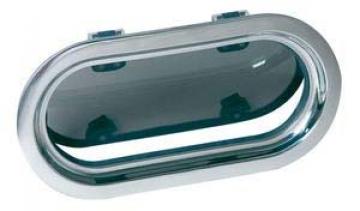 Vetus lomboz, tip PMS24. Çerçeve paslanmaz çelik, camı 10mm duman rengi akriliktir. Paslanmaz çelik sineklik standarttır.