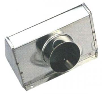Kollektör kutu, 1910583 için. Paslanmaz çelik. Hortum ø 76 mm.