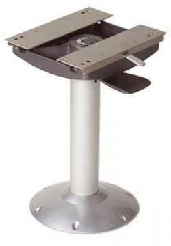 Vetus koltuk ayağı,alüminyum. İleri-geri hareketli, dönebilir. Ayak Ø 80mm taban Ø 300mm.