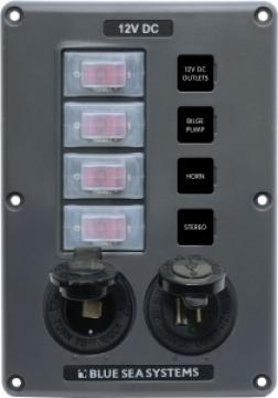 Blue Sea Systems suya dayanıklı sigorta paneli. Flybridge ve açık kokpitler için dizayn edilmiştir.