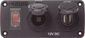 15A Sigorta, 12V çakmak soketi, 2.1A Çiftli USB şarj