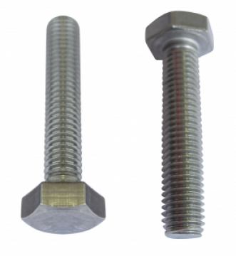 Altı köşe başlı civata, DIN933, AISI304 Paslanmaz çelik.