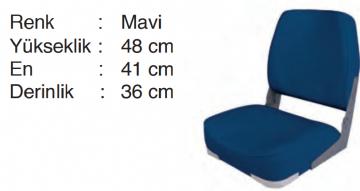 Marin Katlanır Koltuk Mavi