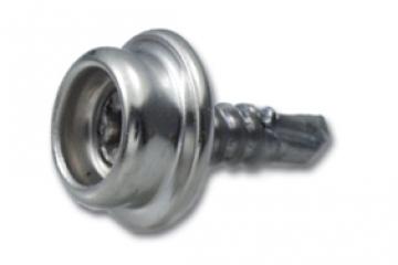 Çıtçıt alt parçası, akıllı vidalı, paslanmaz çelik.