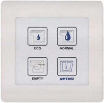 Su geçirmez elektronik kumanda paneli. Vetus TMW tuvalet için.