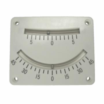 Klinometre. Sancak/iskele 0°-45° ve 0°-5° iki ayrı gösterge. 80x100 mm.
